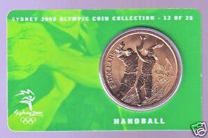 2000 Handball Sydney Olympic $5.00 UNC Coin Australia Sport