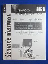 KENWOOD KDC-9 CD PLAYER CAR AUDIO SERVICE MANUAL ORIGINAL FACTORY ISSUE