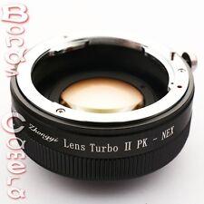 Zhongyi Focal Reducer Booster Turbo II Pentax K Lens to Sony E Adapter NEX A6000