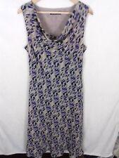 Jacques Vert Size 16 Beige Purple Spotty Cowl Neck Dress