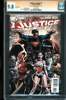 Justice League 1 CGC 9.8 SS Variant Signed by David Finch & Jim Lee (White Pages