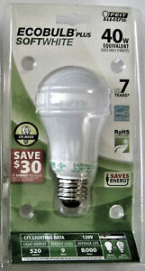 Feit 9W (40W Equal) Soft White 2700K EcoBulb Compact Fluorescent Light Bulb