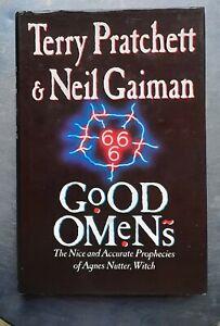 Terry Pratchett Neil Gaiman GOOD OMENS Gollancz 1st/1st edition 1990 HB