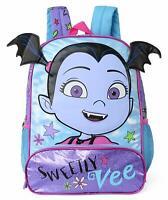 Disney Vampirina Girls School Backpack Book Bag Bat Ears Large Purple Kids Gift