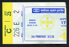 1979 The Who Are You concert ticket stub Madison Square Garden I Can't Explain