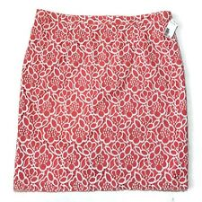 Eva Mendes Skirt 18 Crocheted Lace Coral Pencil Lined Festival Boho