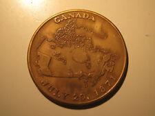 1971 British Colombia Centenary of Confederation with Canada Commemorative Coin