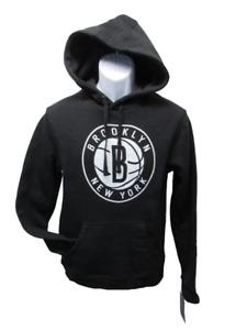 New-Minor-Flaw Brooklyn Nets Mens Size M Medium Black Hoodie