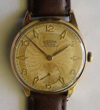 Dogma Prima XL 38 mm Vintage 1940 ETA 853 Movement Working Funciona Gold Plated
