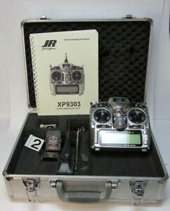 JR XP-9303 Transmitter w/ Spektrum 9ch DM9 2.4GHz Module, FM Module, Receiver +M