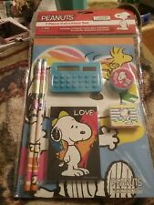 Peanuts Snoopy 7 Piece Fun Stationery Calculator Set School Supplies (Stockings)