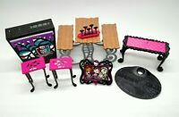 Monster High Doll Accessories Furniture Lot Bench Mattel