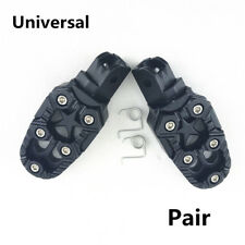 1 Pair Durable Comfort Motorcycle Footpegs Pedals+Mounting Accessories Front Set