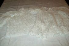 Baby girl clothes beautiful hand knitted cardigans/coats from aged 3 months