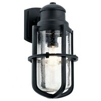 Suri - 20 Inch One Light Outdoor Wall Lantern  Textured Black Finish with Clear