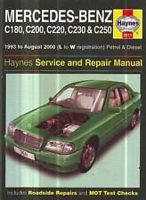 Mercedes Benz C180 C220 C200 C230 C250 WORKSHOP SERVICE MANUAL 1993-8/00 SPECIAL
