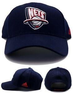New Jersey Nets New NJ Brooklyn Adidas Vintage Team Wool Blue Red Era Hat Cap