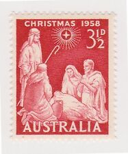 (OR-337) 1958 AU 3½d red Christmas MUH SG306 (C)