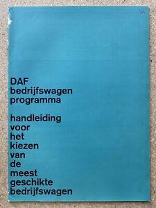 1964 DAF Commercial Vehicle Range original Dutch sales brochure