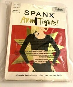 Spanx Women's  Arm Tights Layering Piece Color White Size 1X/2X - NWT