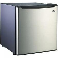 Small Refrigerator Dorm Fridge 1.7 cu ft Office Compact Room Beer Cooler Steel