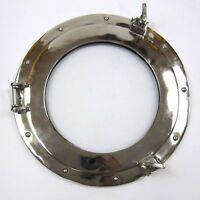 "9"" Aluminum Porthole Window Glass Chrome ~ Ship Cabin Porthole ~ Nautical Decor"
