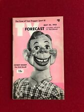 """1952, Howdy Doody, """"TV FORECAST"""" (Scarce) (No Label on Front)"""