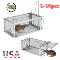 Rodent Animal Mouse Live Trap Hamster Cage Mice Rat Control Catch Bait 1 Door
