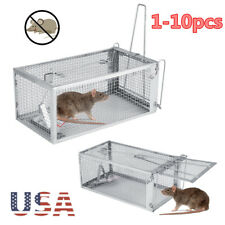 Rodent Animal Mouse Live Trap Hamster Cage Mice Rat Control Catch Bait 1 Door Us
