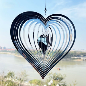 Rotating Crystal Wind Chime Home Garden Decoration Outdoor Hanging Ornament Gift
