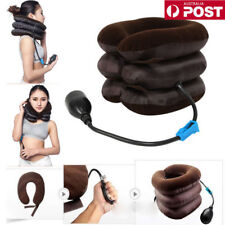 New Massager Neck Brace Support Cervical Collar Air Traction Therapy Device AP