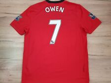 MANCHESTER UNITED! 2009-10! OWEN! shirt trikot camiseta jersey! 6/6 ! XL adult#