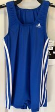 ADIDAS BOYS LARGE GK GYMNASTIC COMPETITION SHIRT STRAIGHT CUT ROYAL Sz CL NWT!