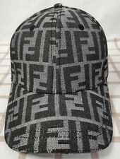 NEW Fendi Baseball Hat Adjustable Cap Cotton Gray Size Medium