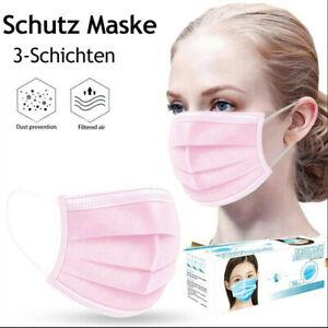 50 / 100 Stück Pink Maske Mask Face Mask  Women / Girl - Pink 3 lagig