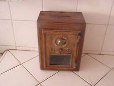 Antique Vintage Post Office US Door Mail Box Wood Bank