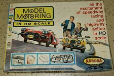 VINTAGE SLOT CAR SET, AURORA MODEL MOTORING Set #1503 Service Manual & (2) CARS