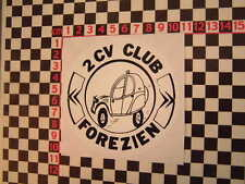 Vintage French Club Sticker - Great for your Citroen 2CV Dyane Acadiane Van