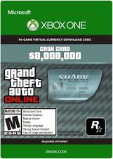 NEW Grand Theft Auto Online GTA V Megalodon Shark Cash Card (XBOX ONE)