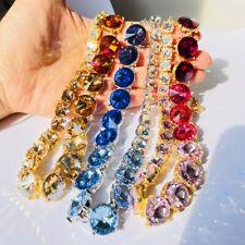 OSCAR DE LA RENTA Gold Cubic Zirconia Necklaces Pendants Multicolor Jewelry