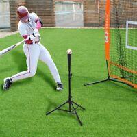 "Baseball Softball Batting Tee Tripod Training Practice Height Adjustable 28""-44"""