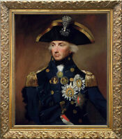 Old Master Art Man Portrait British Nelson Oil Painting Canvas Unframed 24x30