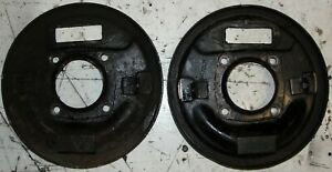 A PAIR CLASSIC BMC MORRIS MINOR 1000 FRONT BRAKE BACK PLATES MAY FIT OTHER CARS