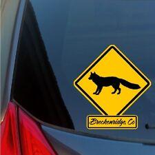 Breckenridge CO fox sticker decal wildlife caution crossing sign snowboard ski