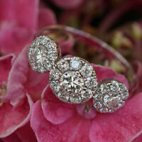 Brillant Ring Rosette 0.83 ct 750er Gold