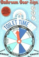 TOILET TIME FUNNY BATHROOM TIMER DOOR SIGN HUMOUR RUDE JOKE NOVELTY GIFT LOO