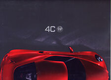 Catalogue prospekt brochure Alfa Romeo 4C coupé 02.2013 IT