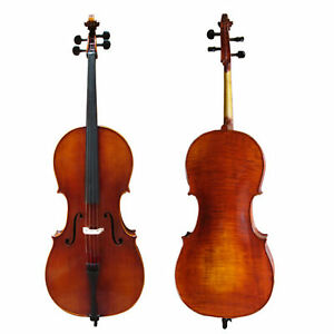 D'Luca Ebony Cello With Gig Bag, Bow And Rosin, 4/4 Full size