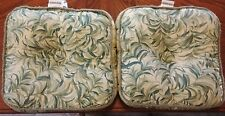 Waverly Maui Green Leaves Pillows Cushions Gussetted Tufted Corded Discontinued