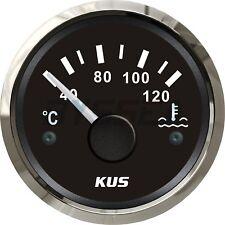 KUS Water Temperature Gauge Boat Car RV Engine Temp Meter Black 40-120 ºC
